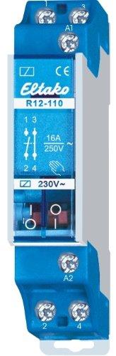 Eltako 2078023 230V. 1 Schließer + 1 Öffner 16A/250V Schaltrelais R12-110-230V AC EnOcean