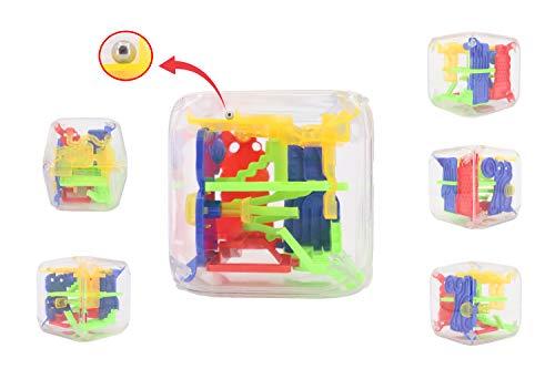 KING JUGUETES Cubo Laberinto 3D. Juego Habilidad Educativo Infantil para Niños. Cubo Mágico Pasatiempos Rompecabezas Circuito Equilibrio Motricidad Lógica