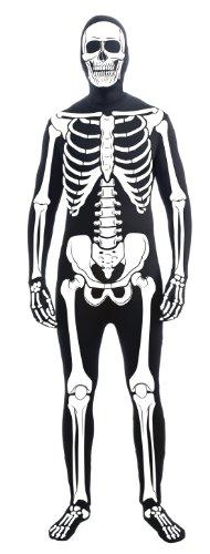 Forum Novelties Men's Skeleton Man Bone Skin Suit Extra Large Adult Costume, Multicolor, X-Large