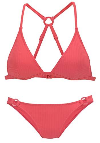 s.Oliver Beachwear LM Tunika, Größe:40/42, Farbe:blau-Koralle