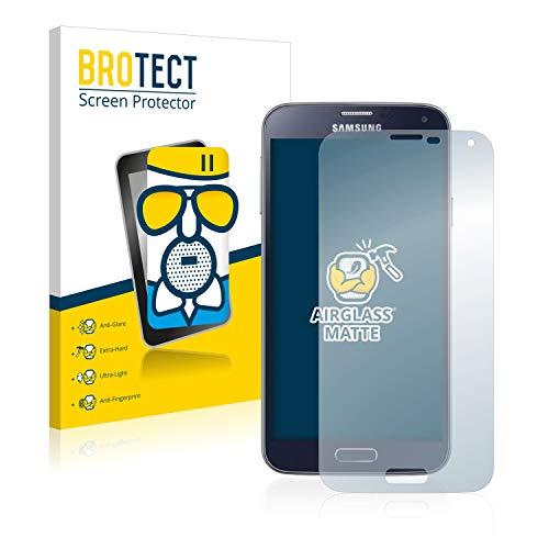 BROTECT Entspiegelungs-Panzerglasfolie kompatibel mit Samsung Galaxy S5 / S5 Neo - Anti-Reflex Panzerglas Schutz-Folie Matt