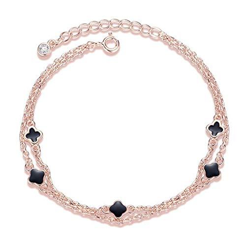 GPWDSN Bracelet Four-leaf clover bracelet female sterling silver niche design bracelet for girlfriend girlfriends birthday gift women