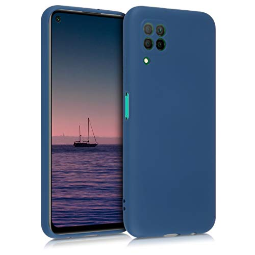 kwmobile Case Compatible with Huawei P40 Lite - Soft Rubberized TPU Slim Protective Cover for Phone - Dark Blue