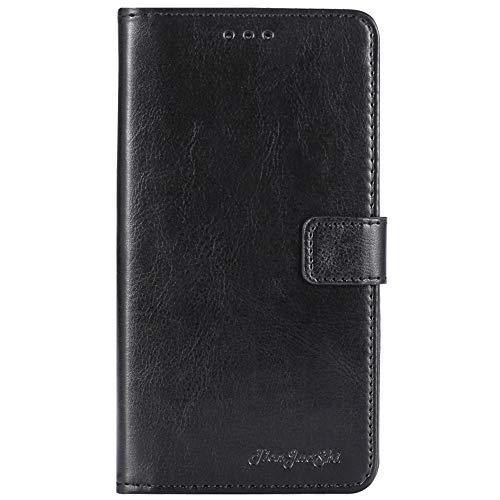 TienJueShi Negro Retro Premium Función de Soporte Funda Caso Teléfono Case para XGODY Note 8 6.3 Inch Carcasa Proteccion Cuero Cover Etui