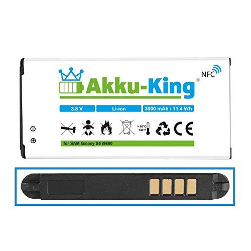 Akku-King Akku kompatibel mit Samsung EB-B900BE - Li-Ion 3000mAh (mit NFC) - für Galaxy S5, S5 Neo, GT - i9600, i9602, i9605, SM-G901