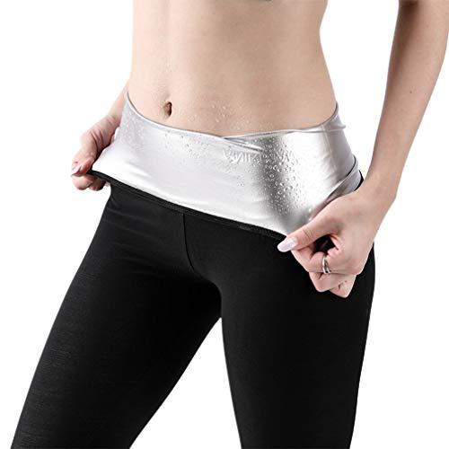 Elastische Body Shaper Taille Trainer Afslankende Broek Gewichtsverlies Vetverbrander Zweet Sauna Leggings Voor Vrouwen (zwart 9 punten broek M)
