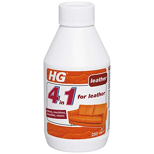 HG 4 in 1 250 ml-Cleans, Nourishes, Protects and Beautifies-for Leather Reconditioning, White