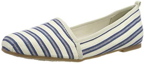 Tamaris Damen 1-1-24668-22 Slipper, Blau (Navy Stripes 865), 38 EU