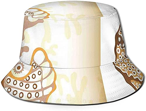 Figura de caballito de mar peces marinos exticos ocano submarino mundo acutico ilustracin unisex impresin doble cara reversible cubo sombrero, plegable verano viaje cubo playa sol sombrero