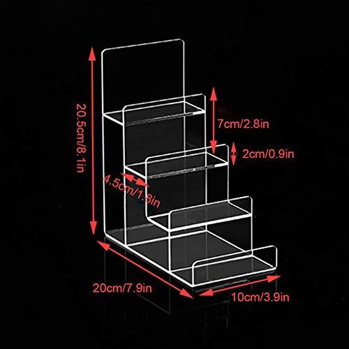 Ksruee 3/4/5/6 Transparenter Acrylständer, Acryl mittelteil Display Regal Kunststoff Display Halterung für Uhr/Telefon/Nagellack/Lippenstift
