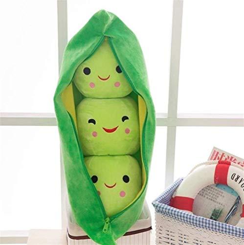 OELPAN Füllung Puppen Nette Baby Plüsch Menschen Gefüllte Spielzeug Puppe Pflanze Qualität Kinder Erbsen Peante-Kissen Spielzeug Jungen Mädchen Geschenk (Color : Green, Size : 50cm)
