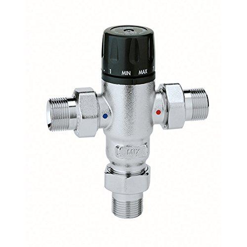 Caleffi 521400 Thermomischer 1/2 Zoll 30 - 65 °C Verkalkungsunempfindlich Einstellbar Entzinkungsfreies