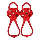Bomoya Cepo universal para zapatos de nieve con puntas antideslizantes, antideslizante, duradero, con buena elasticidad, fácil de poner o quitar.