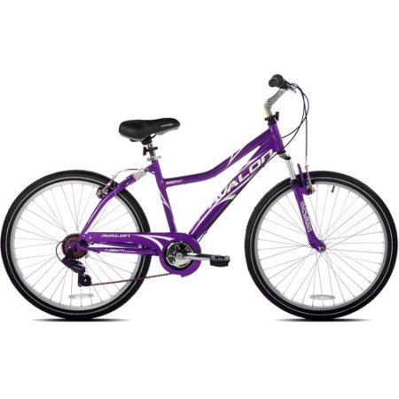 SupremeSaver Next Avalon 26' Comfort Bike Full Suspension Women's Dual Suspension Steel Purple New