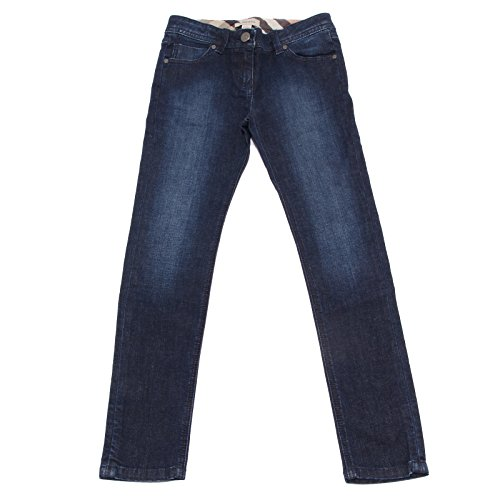 BURBERRY 1738S Jeans Bimba Blu Denim Pantaloni Pant Trouser Kid [8 years]