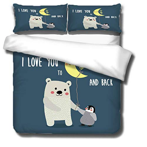 GSYHZL king size bedding set,3D cartoon super king-size bed bedding set, printed duvet cover and pillowcase for children bedroom-TO_259*229cm(3pcs)