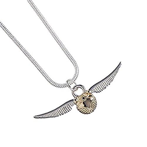 Offizielle Silber überzogene Quidditch Goldenen Schnatz Halskette Anhänger