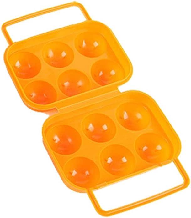 Portable 6 Eggs Tray Holder Egg Storage Box Refrigerator Crisper
