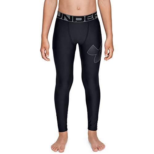 Under Armour Jungen HeatGear Legging, Schwarz, YLG