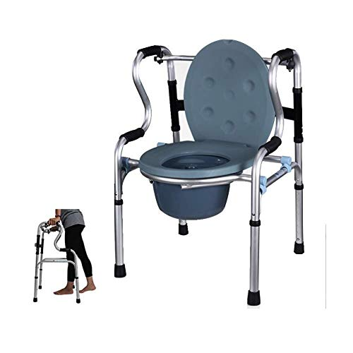 Bathroom Wheelchairs RRH Bedside Commodes Adjustable Height Walking Frame Foldable Lightweight Aluminum Walker for The Elderly Mobile Toilet Commode Chair seat