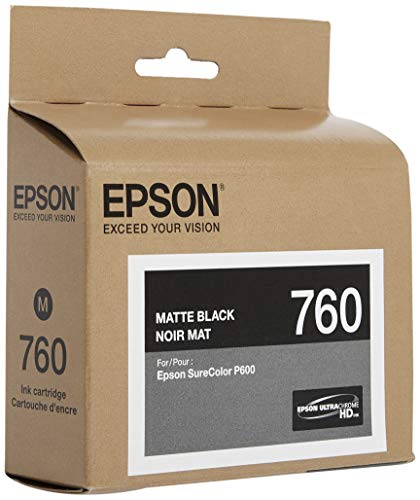 Epson T760820 UltraChrome HD Matte Black Standard Capacity Cartridge Ink