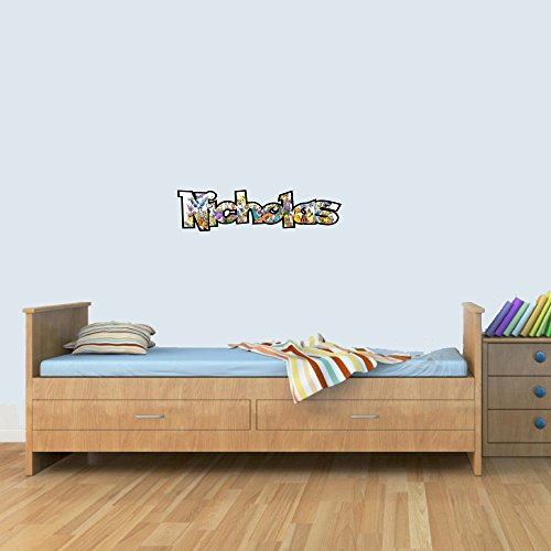 S Customisable Pokemon Childrens Name Wall Art Decal Vinyl Stickers for Boys/Girls Bedroom