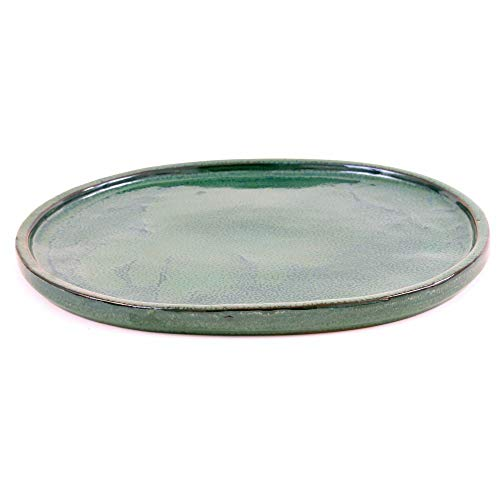 Bonsai 54300 Soucoupe Ovale Vert 35 x 28 cm