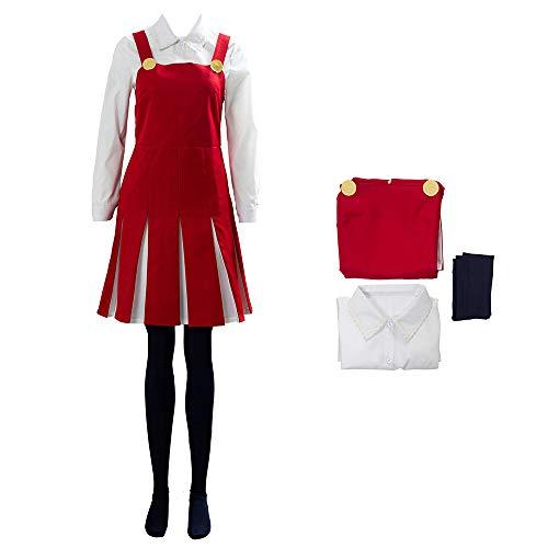 Conjunto de Camisa de Vestir de Cosplay de Anime Eri, Disfraz de My Hero Academia Disfraz de Carnaval de Halloween para Mujeres nias