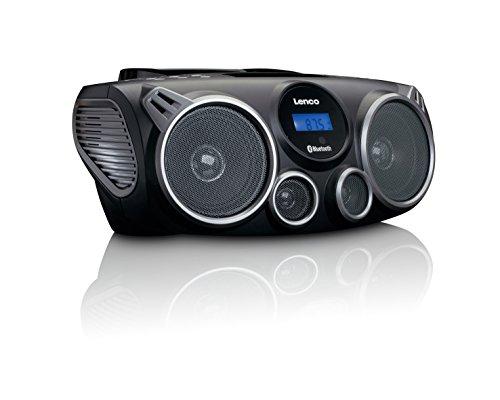 Lenco Scd de 100 – Radio Portátil con CD, MP3, Bluetooth, USB y SD, Mando a Distancia Negro