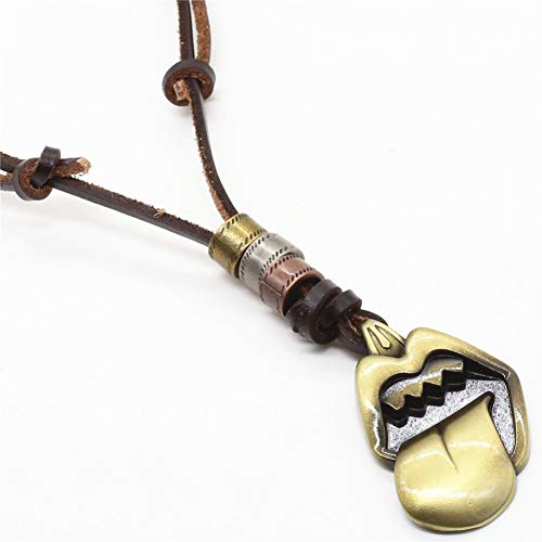 NASHUBIA Fluitje Sleutel Handgemaakte Punk Bruin Vintage Kruis Koele Schedel Hangers Heren Ketting Vrouwen Trui Ketting Sieraden
