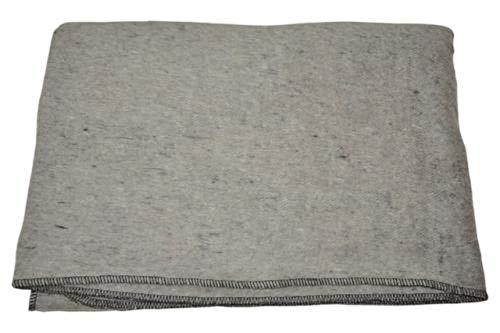 A.Blöchl AB Couverture Robuste de Laine d'armée pour Le Camping ou Le Pique-Nique (200 x 150 cm/Gris Clair)