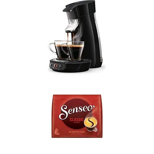 Philips Senseo Viva Cafe HD6563/60 Kaffeepadmaschine (Crema plus, Kaffee-Stärkeeinstellung) schwarz, mit 16 Senseo Classic Pads