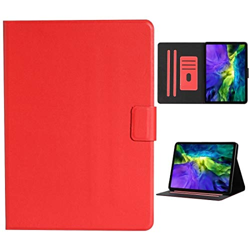 LESLEY LM For Solid Color Horizontal Flip Leather Case with Card Slots & Holder & Sleep/Wake-up Function iPad Pro 11 (2020) 2021 NEW MODEL (Color : Red)