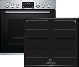 Bosch (HEA5784S1 + NXX675CB1E) Electrodomésticos de cocina Horno de placa de inducción Aparato de cocina - Conjuntos de juegos (placa de inducción, vidrio y cerámica, negro, 3300 W, táctil, 60,6 cm)