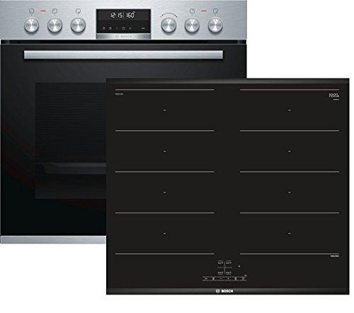 Bosch HND679LS60 (HEA5784S1 + NXX675CB1E) Herd-Kochfeld-Kombination (Einbau) / A / 59,4 cm / Edelstahl / Klapptür / AutoPilot 30 / Pyrolyse / FlexInduction / weißer LCD-Display / ComfortProfil