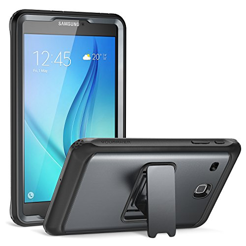 Galaxy Tab E 80 Case YOUMAKER FullBody Heavy Duty Protective Case with Kickstand and Builtin Screen Protector for Samsung Galaxy Tab E 80 inch  Black/Black