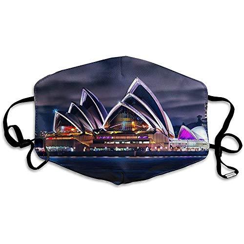 Mond Masker Voor Dagelijkse Dress Up, Sydney Theater Scenery Kunst MondMuffel, Vakantie Half Gezicht Maskers