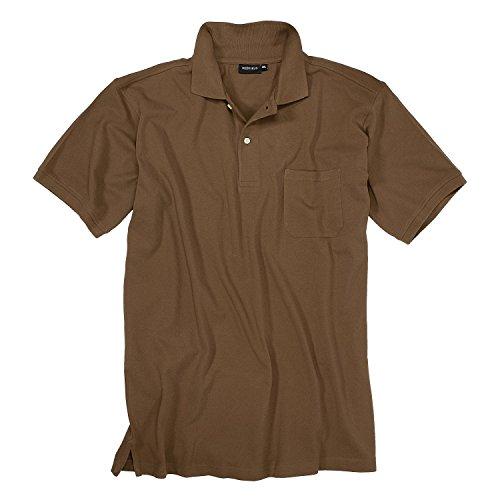 Redfield Braunes Polo Shirt großen Größen bis 10XL, Größe:7XL