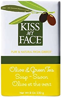 Kiss My Face Moisturizing Bar Soap for All Skin Types - Olive & Green Tea - 8 oz