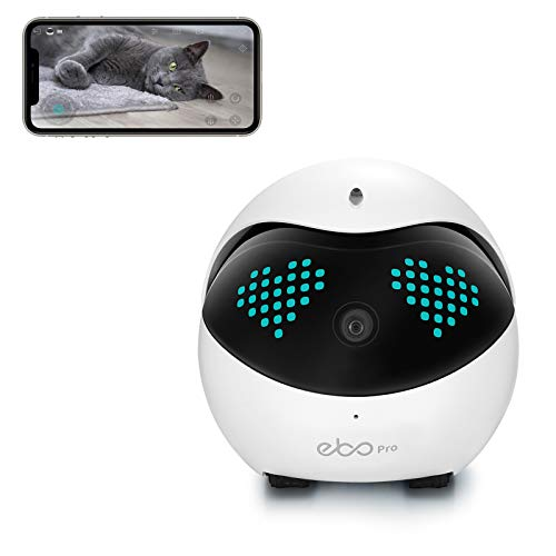 Enabot Ebo Pro Remotely Movable Smart Robot, Interactive AIRobot, Smart Pet Camera,Famliy Monitor, Security Camera, Petpal, Two Way Audio & WiFi Full HD & Full-Room View & Live Video