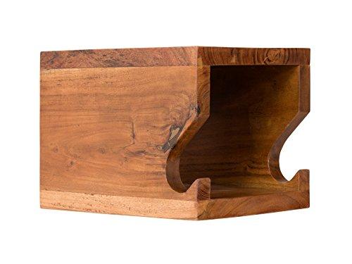 Massivum 10023350 Fahrradregal Wandhalter Cubike Akazie, Holz, natur, 35 x 25 x 25 cm