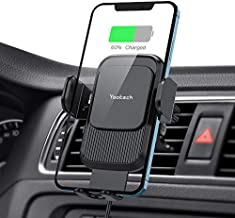 Wireless Car Charger,Yootech 15W/10W/7.5W Qi Car Charger,Fast Charging Auto Clamping Car Wireless Charger Air Vent Car Phone Holder Mount,Compatible with iPhone 12/12 Pro Max/12 Mini/11,Galaxy S21/S20