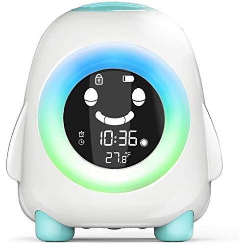BIGMALL Sunrise Wecker - Digitale LED-Uhr FM-Radio Für Schlafzimmer - Mehrere Naturgeräusche Sonnenuntergangssimulation & Touch Control - Mit Schlummerfunktion Für Heavy