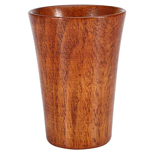 MOUMOUTEN Taza de Madera, Taza de Beber Hecha a Mano Vintage Taza de Madera Maciza de Superficie Pulida para Taza de té, Taza de café, Copa de Vino y Vaso de Agua