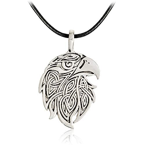 CHQIFE Norse Viking Necklace Jewelry for Men Women (Eagle Pendant)