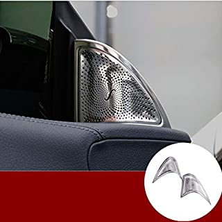 HOTRIMWORLD Interior Car Door Audio Speaker Frame Trim Cover 2pcs for Mercedes-Benz CLA C117 W117 2013-2019