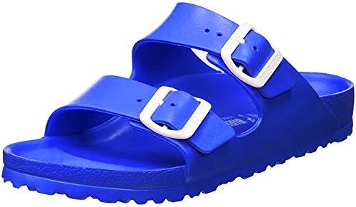 BIRKENSTOCK Unisex-Erwachsene Arizona Eva Pantoletten, Blau (Scuba Blue), 42 EU