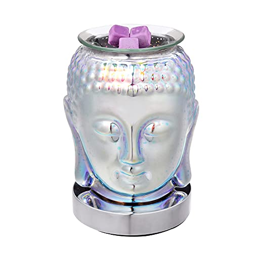 3D Buddha Statue Electric Wax Melter Warmer Oil Burner Aromatherapy Diffusers Touch Control Night Light Decor for Home Office Bedroom Living Room Gifts