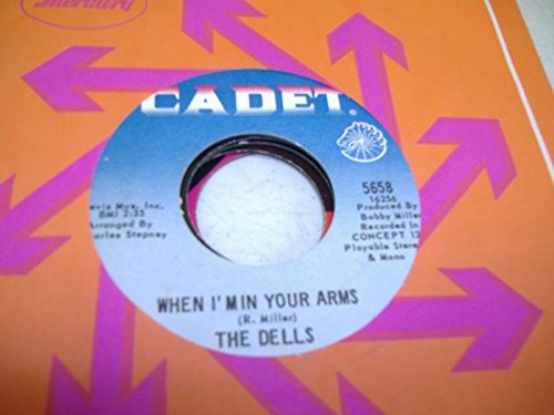 THE DELLS 45 RPM When I'Min Your Arms / On The Dock Of The Bay
