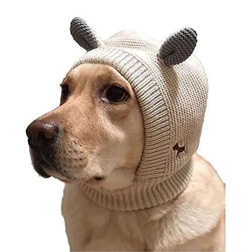 ZXZCHGN PET cuello oreja calentador capucha, orejas de perro, orejas silenciosas de la oreja calmante para el oído para perros Muffs Protección de ruido Perro de punto PET, para mascotas cachorro de p